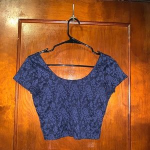 Abercrombie & Fitch Navy Blue Crop Top